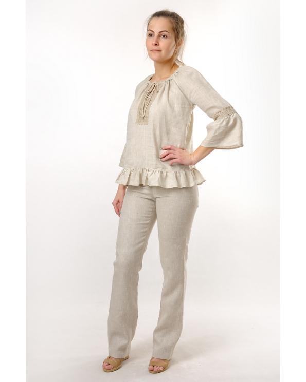 Блузка женская из льна #035