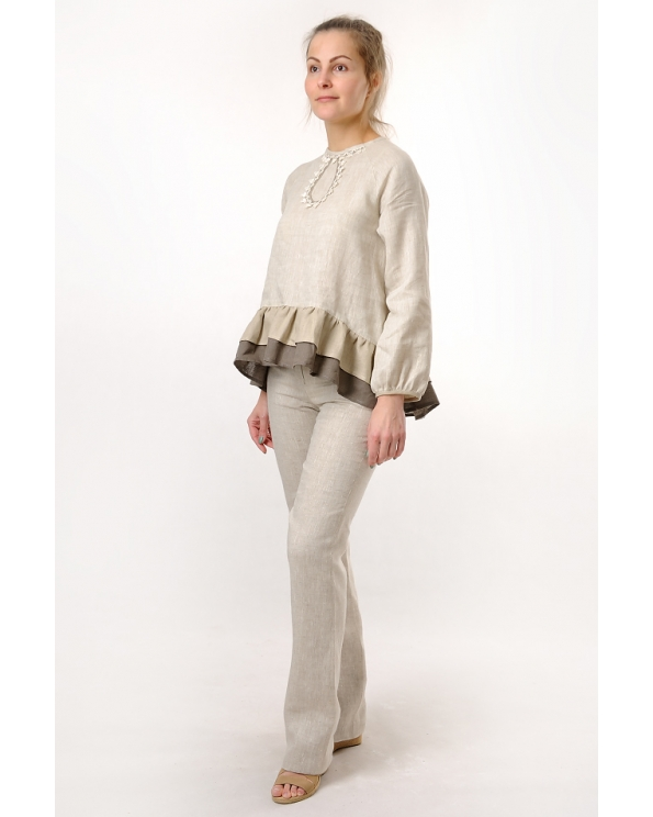 Блузка женская из льна #038