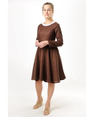 Платье льняное женское #036