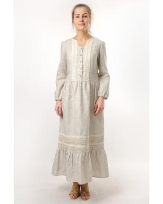 Платье льняное женское #048