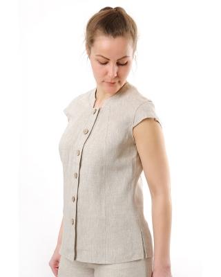 Блузка женская из льна #010