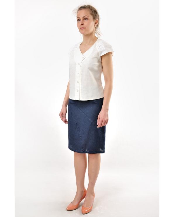 Блузка женская из льна #016