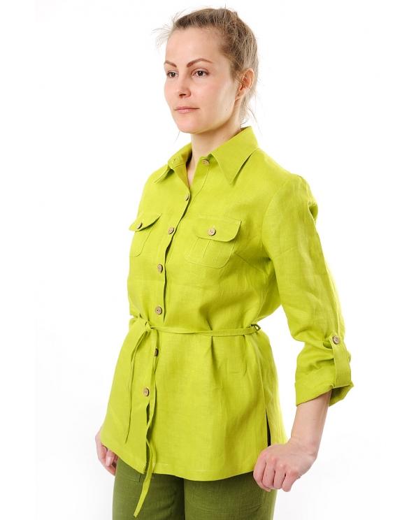 Блузка женская из льна #020