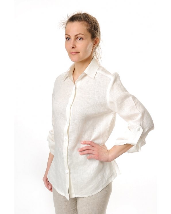 Блузка женская из льна #021