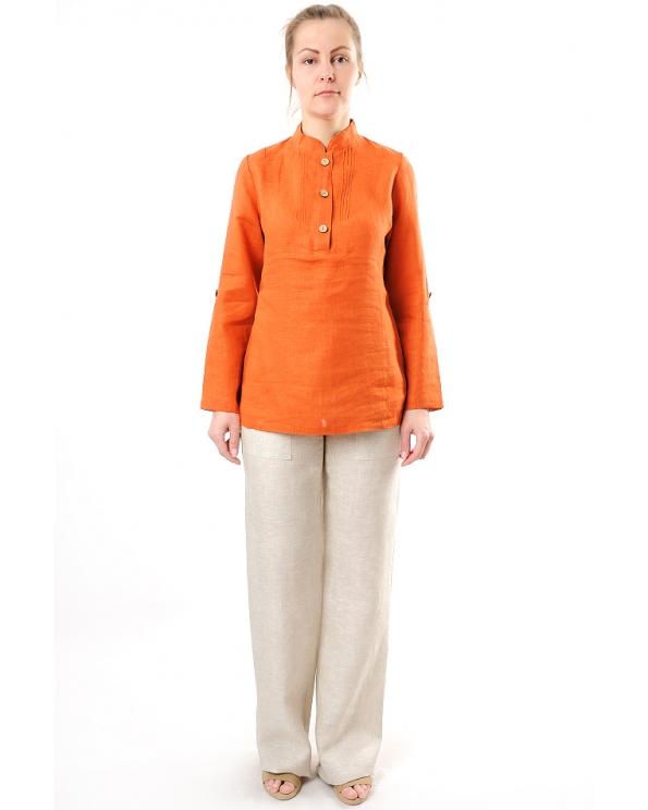 Блузка женская из льна #025