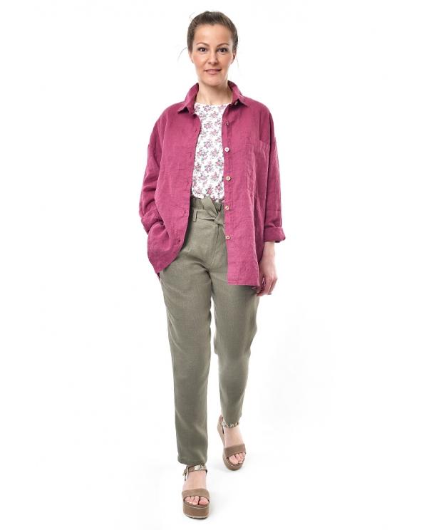 Блузка женская из льна #046