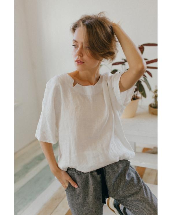 Блузка женская из льна #047
