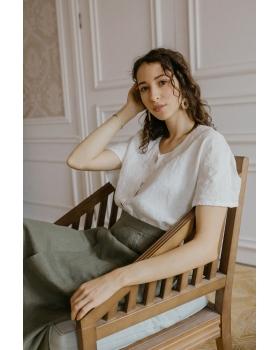 Блузка женская из льна #048