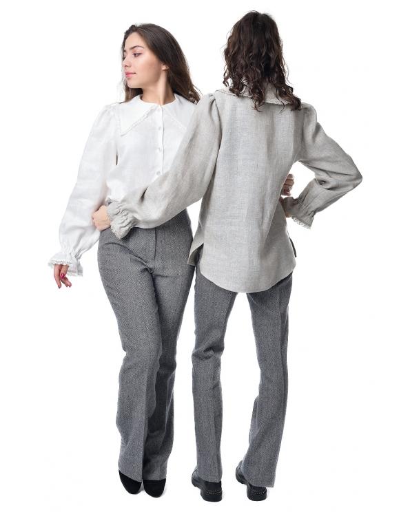 Блузка женская из льна #051