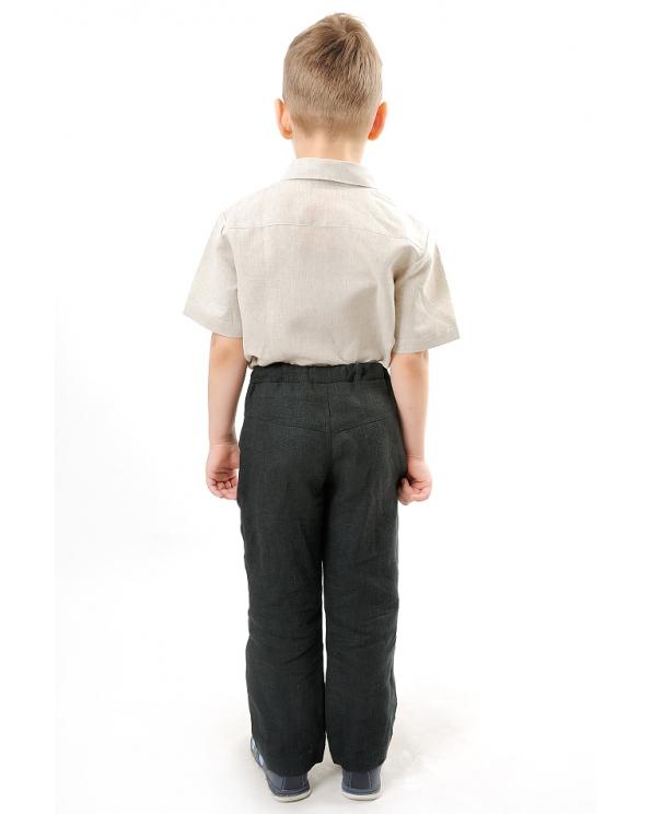 Брюки льняные для мальчика #002