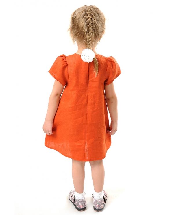Платье льняное для девочки #001