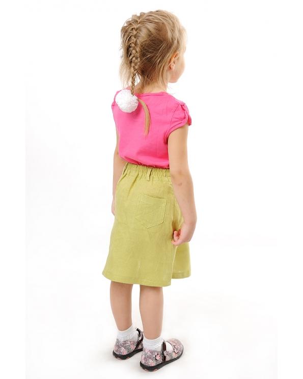 Юбка льняная для девочки #002