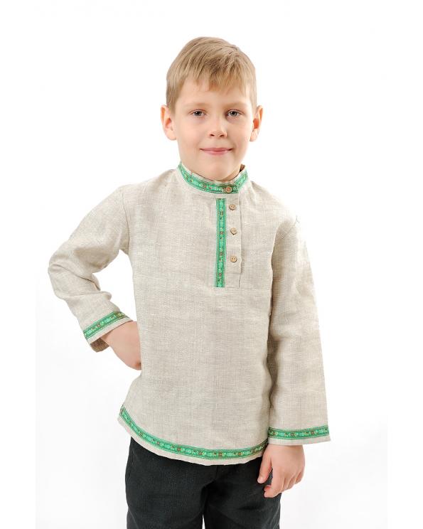 """Рубашка-""""косоворотка"""" льняная для мальчика"""