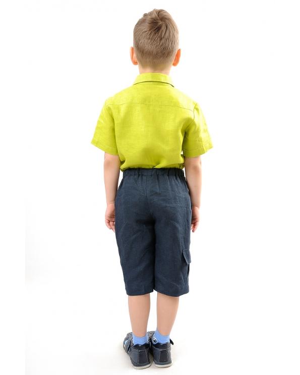 Шорты льняные для мальчика #001