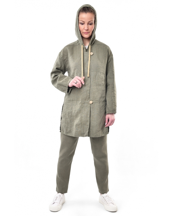 Куртка льняная женская #004