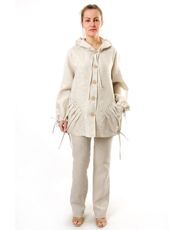 Куртка-ветровка льняная женская #002
