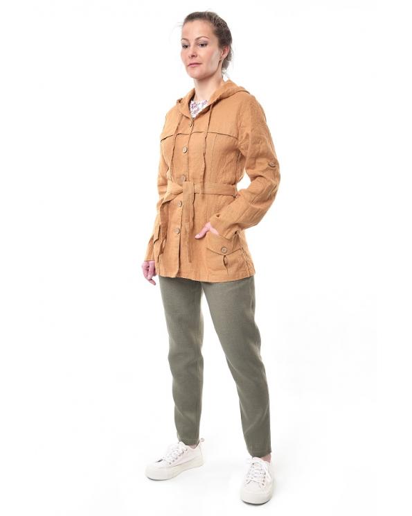 Куртка-ветровка льняная женская #003