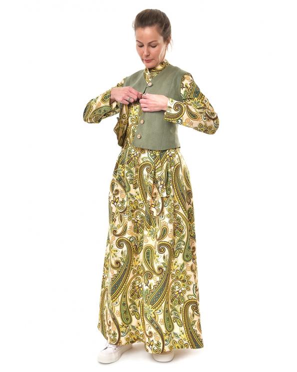 """Платье 025 """"Огурцы"""" цв. зеленый"""