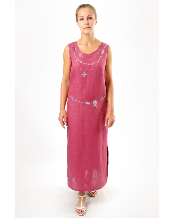 Платье льняное женское #004