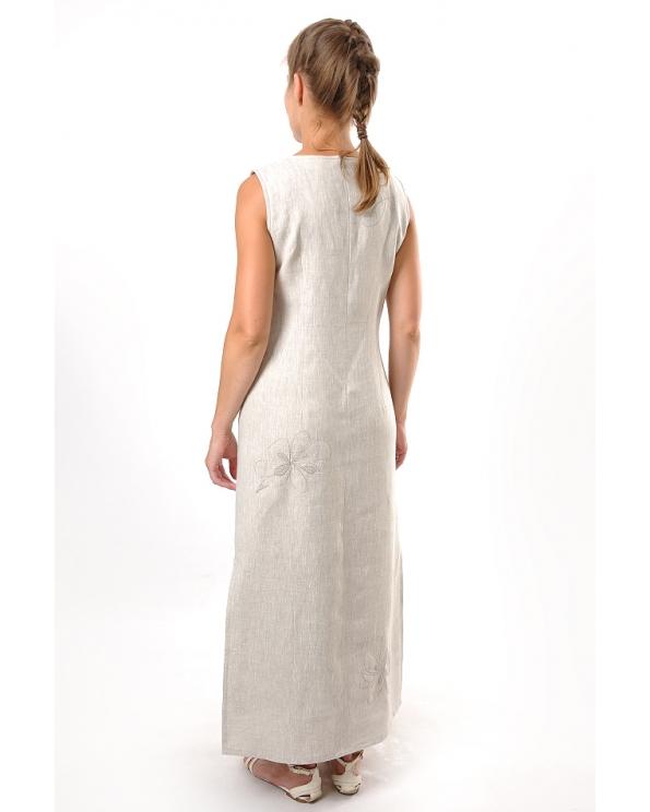 Платье льняное женское #006
