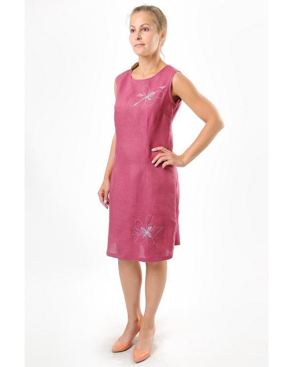 Платье льняное женское #007