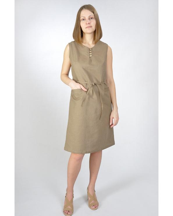 Платье льняное женское #011
