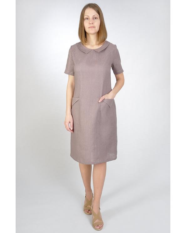 Платье льняное женское #014