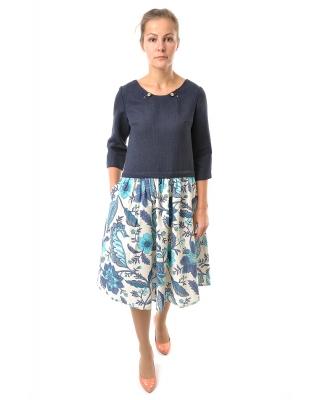 Платье льняное женское #035