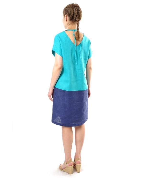 Платье льняное женское #044