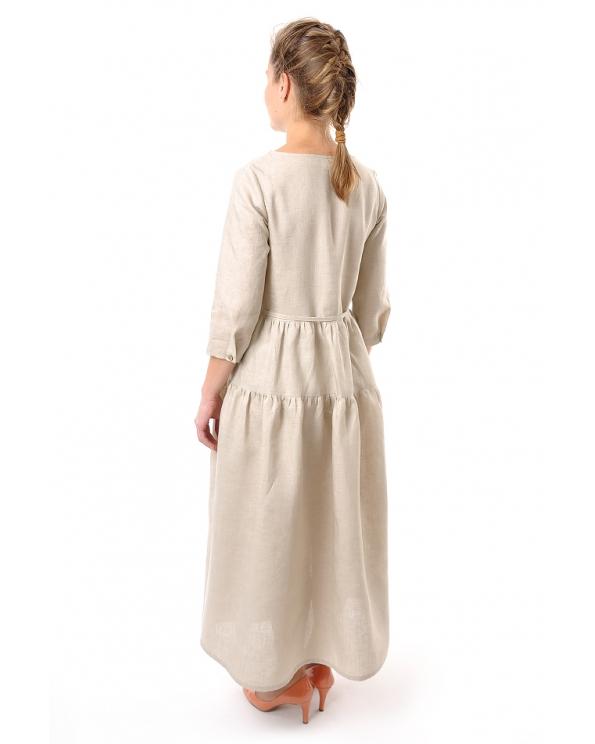 Платье льняное женское #045