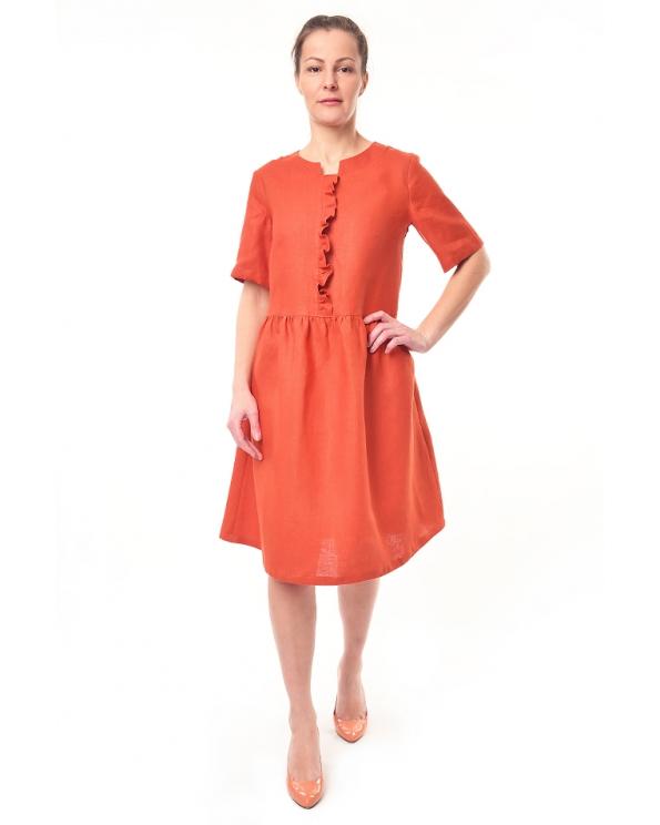 Платье льняное женское #051