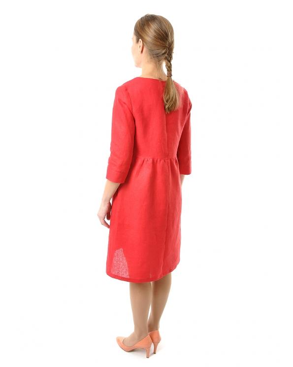 Платье льняное женское #064
