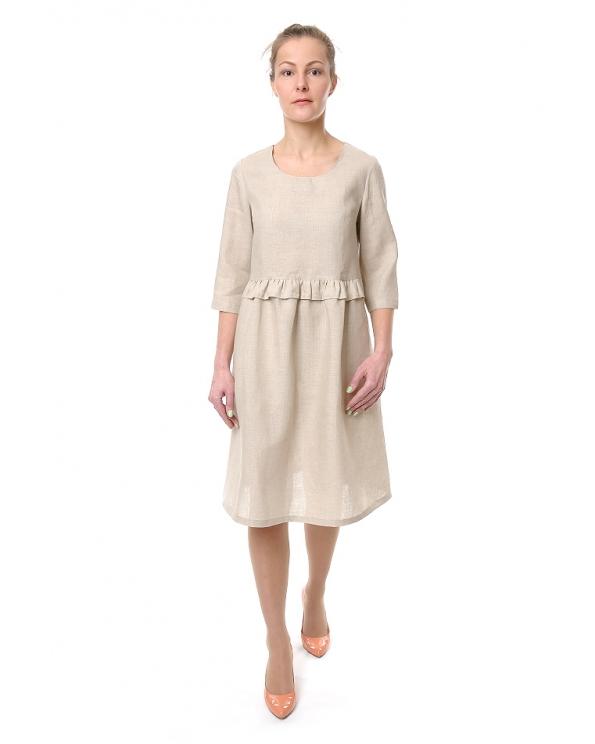 Платье льняное женское #065