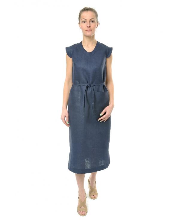 Платье льняное женское #071