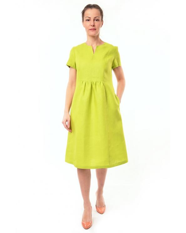 Платье льняное женское #072