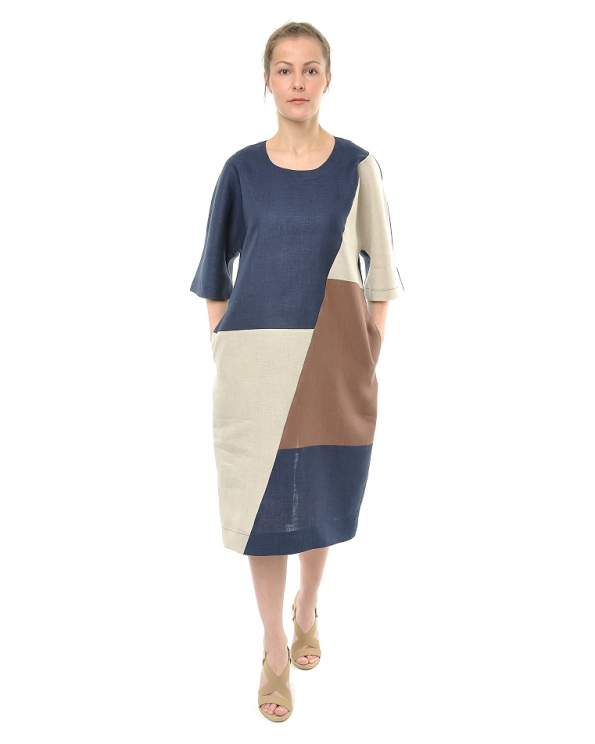 Платье льняное женское #075