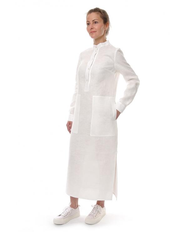 Платье льняное женское #080