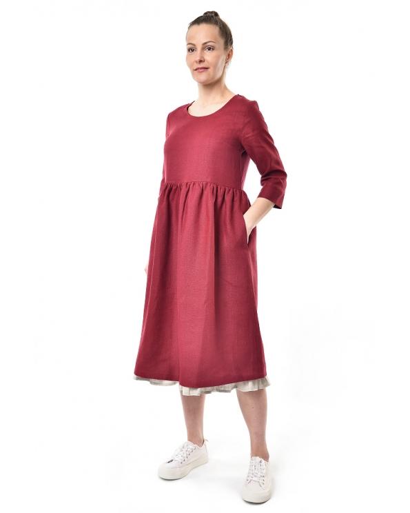 Платье льняное женское #086