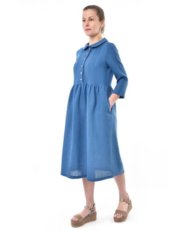 Платье льняное женское #087