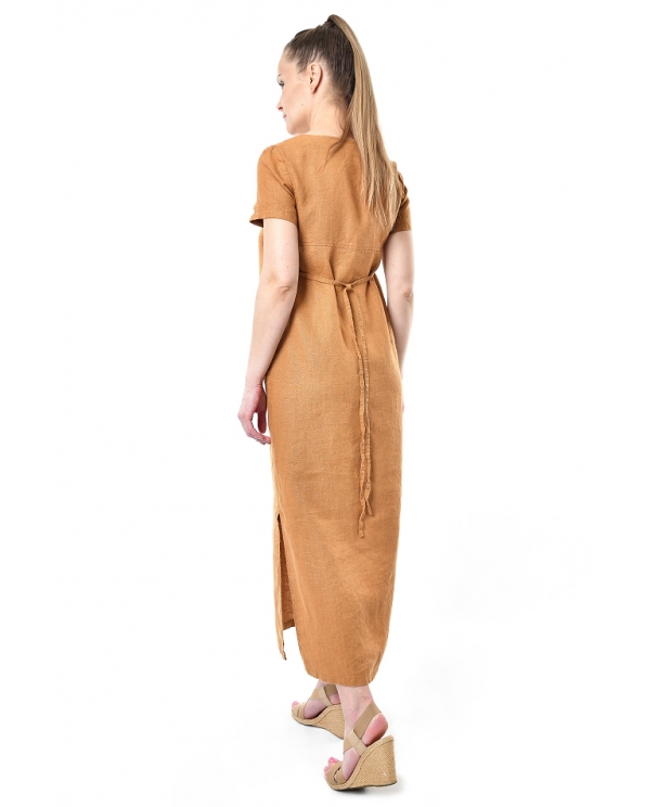 Платье льняное женское #096