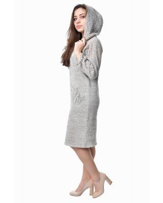 Платье льняное вязаное 23-02