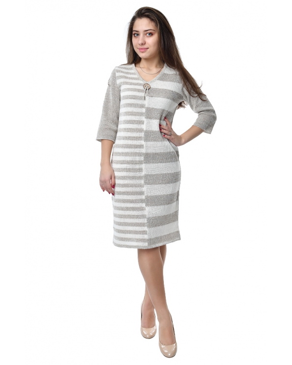 Платье льняное вязаное 22-02