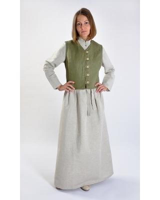 """Платье льняное женское #025 цвет """"Натуральный"""""""