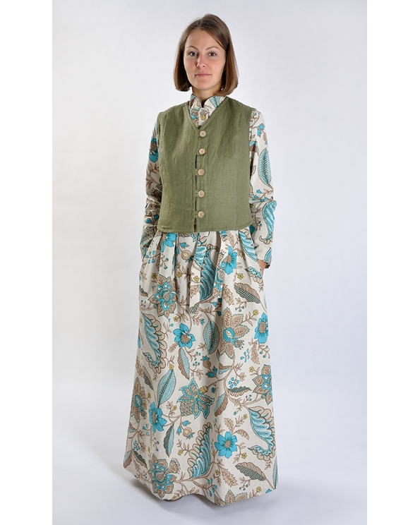 """Платье льняное женское #025 """"Восточные мотивы"""""""