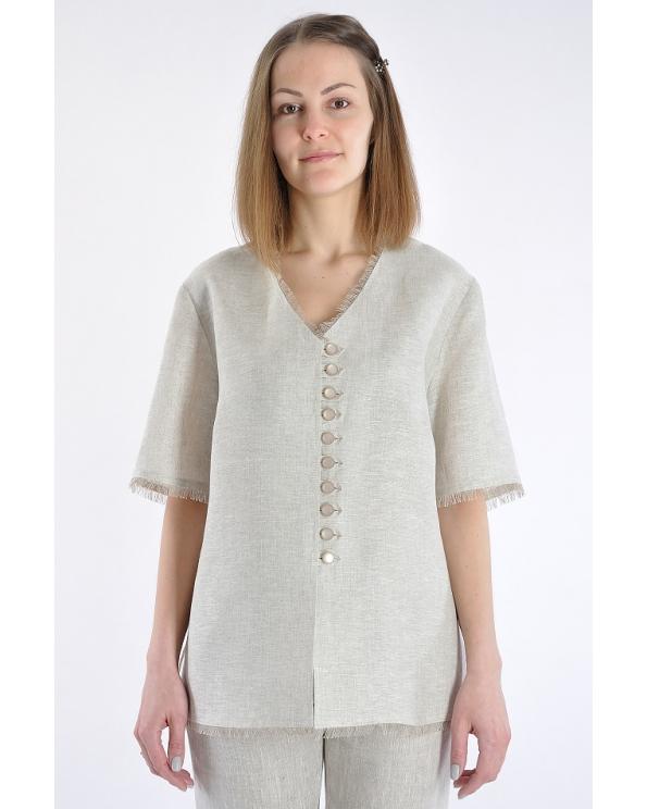 Блузка женская из льна #001-01