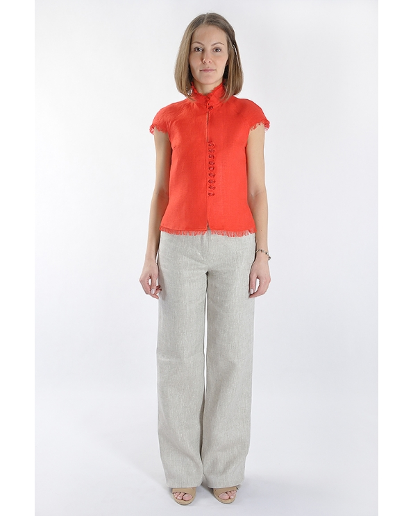 Блузка женская из льна #001