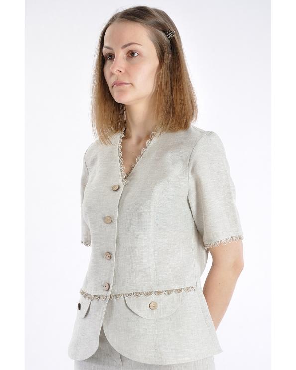 Блузка женская из льна #011