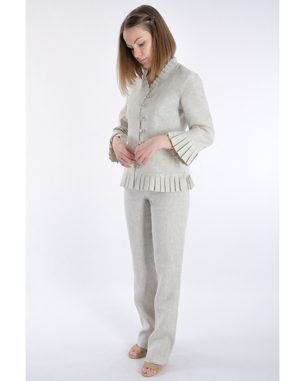 Блузка женская из льна #013