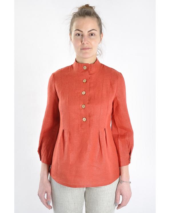 Блузка женская из льна #015