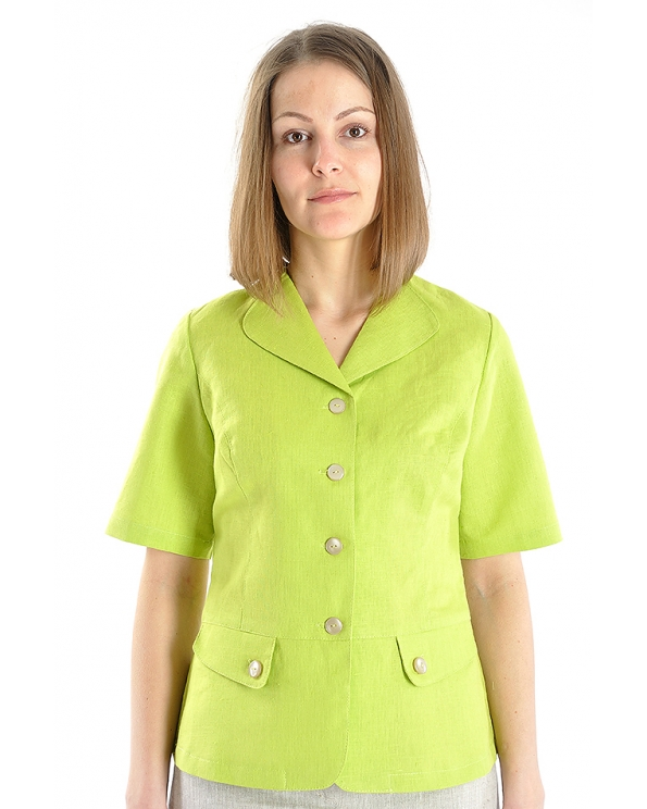 Блузка женская из льна #017
